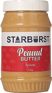 Starburst Natural Peanut Butter (Zero Cholesterol & Trans Fat, High in Fiber & Protein) (Crunchy, 1 kg)