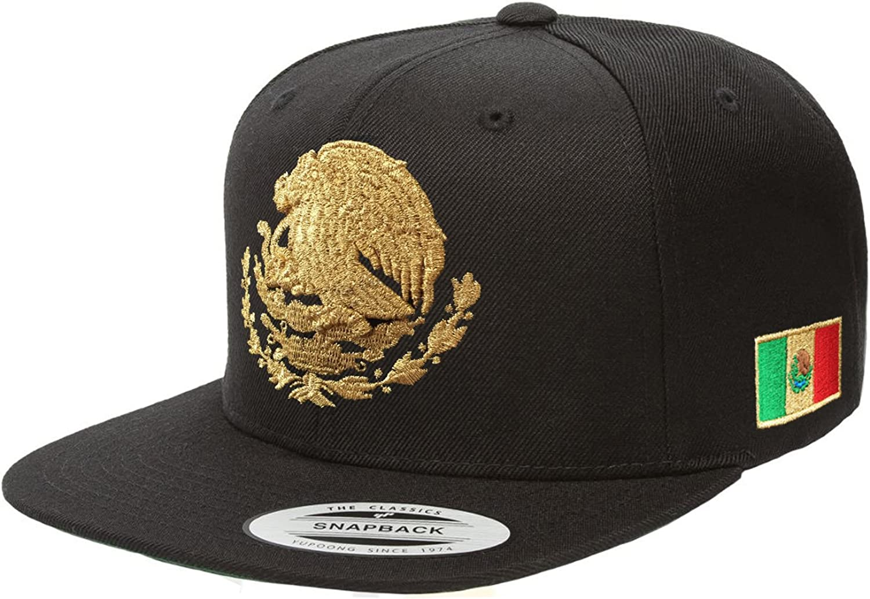 Mexico Snapback hats (Black M.gold)