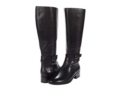 Naturalizer Reid Wide Shaft (Black Leather) Women