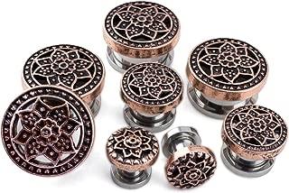 rose gold lotus plugs
