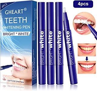 Teeth Whitening Pen (4 Pack), Teeth Whitening Gel, Upgraded Formula, Effective, Painless, No Sensitivity, Travel-Friendly, Beautiful White Smile, Natural Mint Flavor