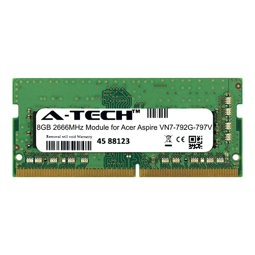 A-Tech 8GB Module for Acer Aspire VN7-792G-797V Laptop & Notebook Compatible DDR4 2666Mhz Memory Ram (ATMS268713A25978X1)
