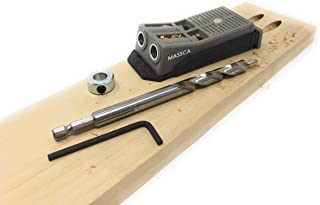 Massca Twin Pocket Hole Jig Set – Adjustable & Easy to Use Joinery Woodworking Tool..