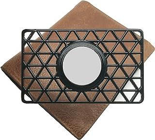 Airtag用 ウォレットケース クレジット カード サイズ ウォレット カード ウォレット クリップ アンチロスト 財布/ハンドバッグ/リストストラップに最適 (Black)