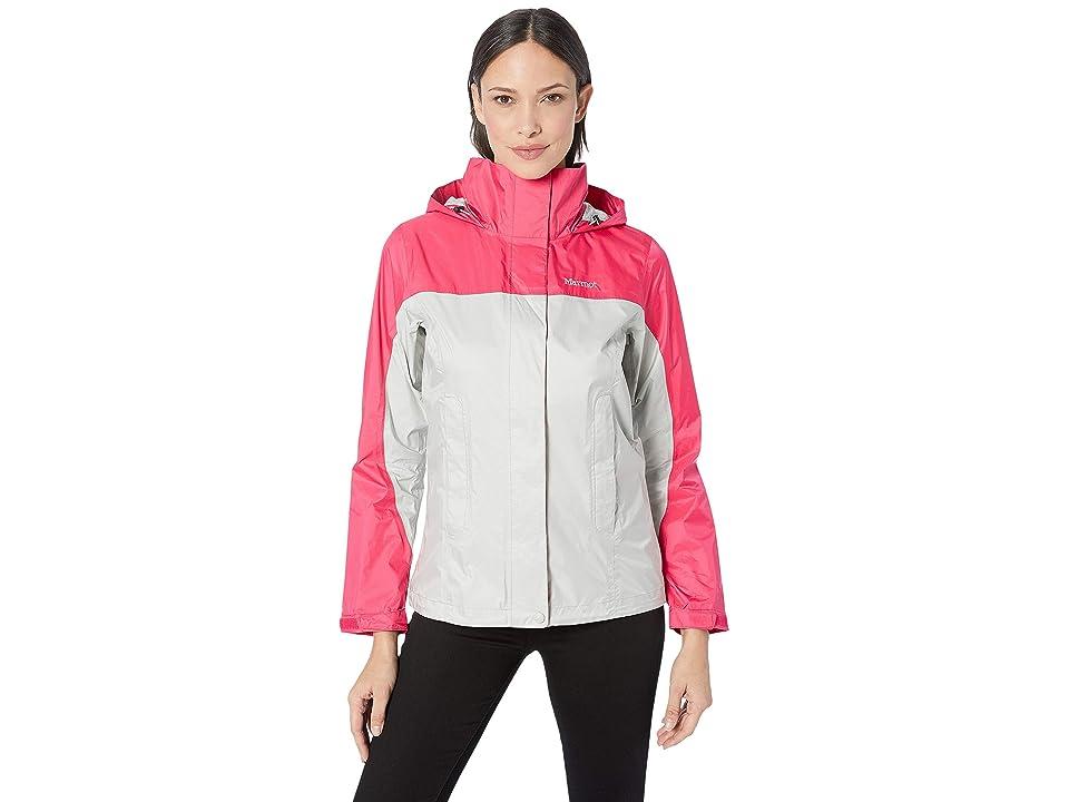 Marmot PreCip(r) Eco Jacket (Platinum/Disco Pink) Women