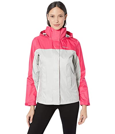 Marmot PreCip(r) Eco Jacket (Platinum/Disco Pink) Women