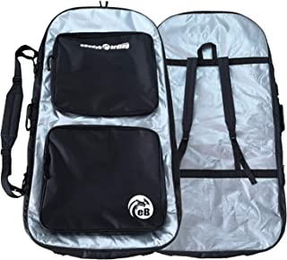 eBodyboarding Double Padded Reflector Wet/Dry Bag - Silver with Black Pockets