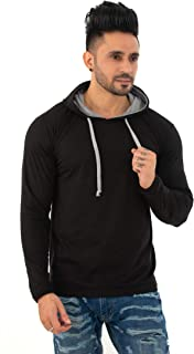 SKYBEN Men's Hooded Full Sleeves T Shirt