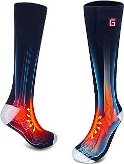 HZ009567 Miiu Men Women Novelty Electric Heated Socks Rechargeable Battery Heat Sox Kit,Winter Thermal Heated Socks Heat Insulated Sock for Sports Outdoors,Handmade,3.7V/2200mAh