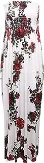 Girlzwalk Women Sheering Floral Print Long Maxi Dress Plus Size 4-22
