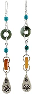 NOVICA Multi-Gem Blue Calcite .925 Sterling Silver Beaded Dangle Earrings, Hill Tribe Adventure'