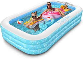 """Inflatable Swimming Pool, TrekPow 95""""x56""""x22"""" Full-Sized Swimming Pool for Kids, Adults, Easy Set & Durable Blow Up Pool f..."""