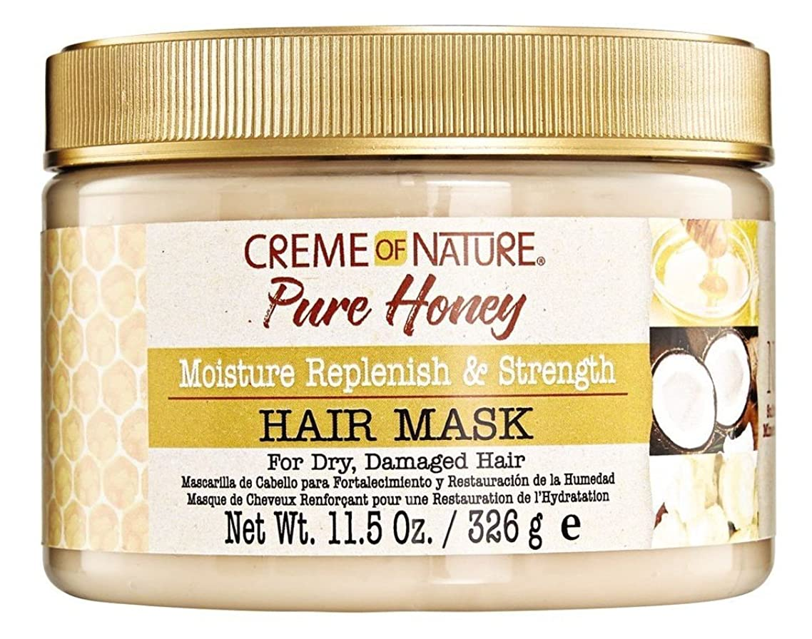Creme Of Nature Pure Honey Hair Mask 11.5 Ounce Jar (340ml) (6 Pack)