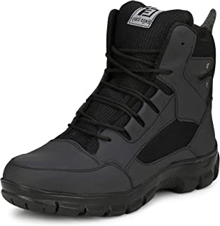 b506ccbd4d6 Eego Italy® Genuine Leather Light Weight Men's Steel Toe Safety Boots with  Anti Skid Sole