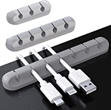TERSELY 3 Pack Cable Clips Cord Management Organizer, Silicone Adhesive Wire Holder for Power Cords, Charging Cables in Of...