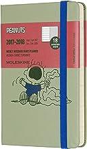Moleskine Cuaderno y calendario de la semana, Peanuts, 18meses, 2017/2018, Hard Cover, color verde bolsillo