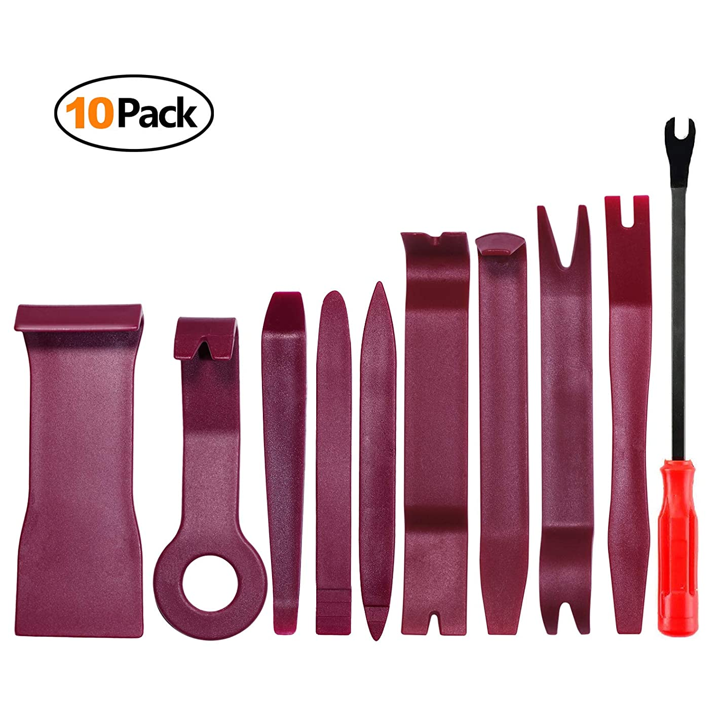 Auto Trim Removal Tool Kit for Car Door Clip Panel Audio Video Dashboard, Set of 10Pcs