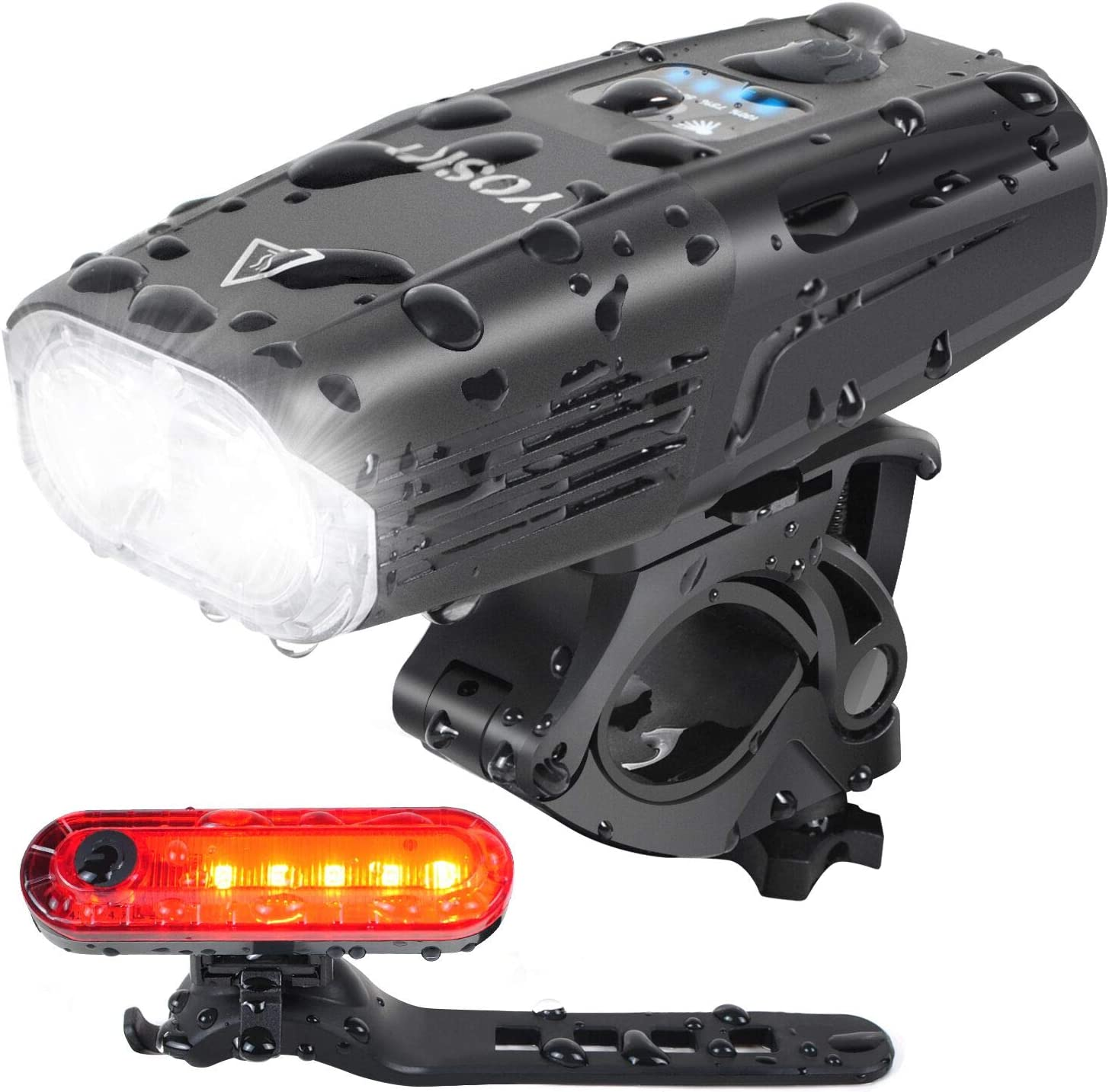 Usb Rechargeable Bike Headlight  Taillight Set 3 Led Bike Light 1000 Lumen Supe
