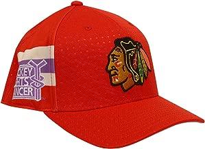 adidas Chicago Blackhawks Hockey Fights Cancer Flex Fit Hat