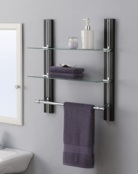 Organize It All 594480 Towel Bar Silver Brown