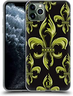 Head Case Designs Ornament Fleur de Lis Collection Soft Gel Case Compatible for iPhone 11 Pro Max