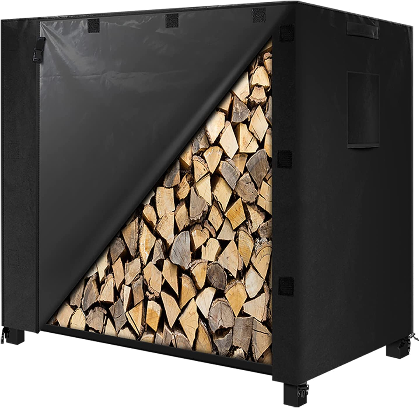 Max 71% OFF IPHUNGO Firewood Log Rack Cover Outdoor Duty 600D OFFicial shop Heavy Oxford