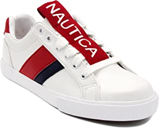 Nautica Steam Women Lace - Up Fashion Sneaker Casual Shoes -Steam Tape-Red Tape-9.5