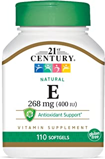 21st Century Natural E-400, 110 Softgels