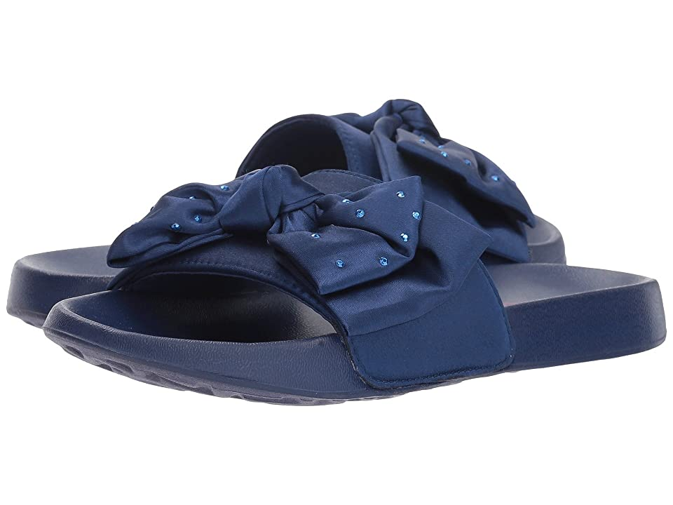 SKECHERS KIDS Sunny Slides Satin Shimmy (Little Kid/Big Kid) (Navy) Girls Shoes