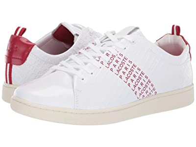 Lacoste Carnaby Evo 119 9 US (White/Red) Men