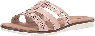 其乐 Clarks Womens Kele Willow Leather Open Toe Casual Slide Sandals US