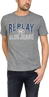 Blue Jeans Logo Men's T-Shirt, Grey Melange
