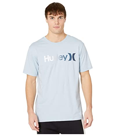 Hurley One Only Gradient 2.0 Short Sleeve Tee (Light Armory Blue/White) Men