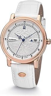 Kronsegler - Karma - Reloj de pulsera automático, color blanco y rosa