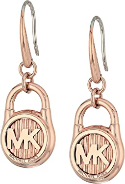 Michael Kors Logo Lock Stud Earrings