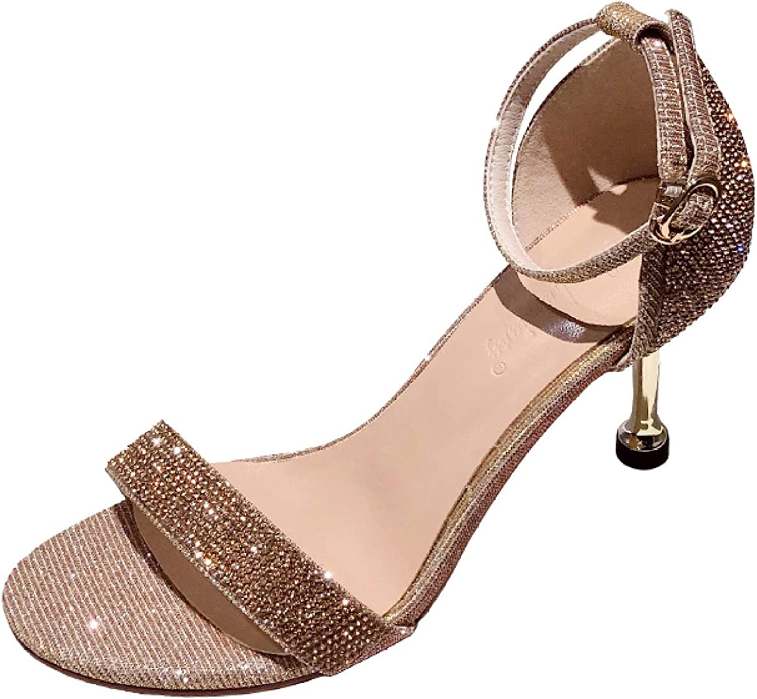 Woman's Elegant Animer and price revision Open Toe Stiletto He Super sale period limited High Strappy Sandals Heeled