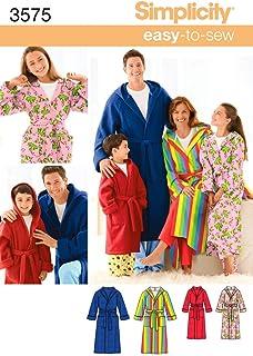 Simplicity 3575Women's/Men/Child Sleepwear, Paper, White, L/XS-XL