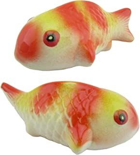 Artisan ceramic focal component Koi fish 45mm handcrafted high quality bisque clay and glazed porcelain