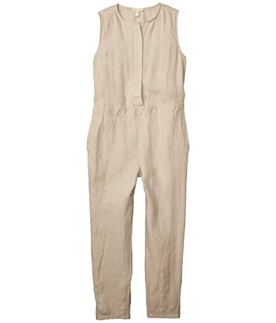 Eileen Fisher Petite Round Neck Ankle Length Jumpsuit (Unnatural) Women