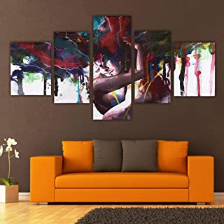 Fragil Tox Home Decor 5Pcs Abstract Couple Canvas Print Paintings Pictures Home Wall Art Decor Unframed Multi Medium Medium