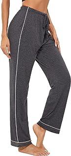 Pantalón para Mujer Pantalones de Pijama Casual Largo Ropa de Dormir Comodo y Suelto Pantalon de Casa Chándal con Bolsillos Otoño Invierno Loungewear