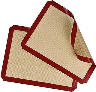 comprar comparacion Belmalia 2X Plancha Silicona para Bandejas de Horno, Papel de Horno, Fibra de Vidrio 40x30cm Rojo Marrón