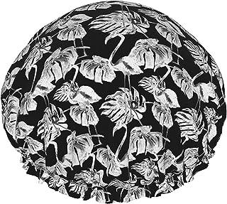 Tropikalne liście flaming wodoodporna czapka prysznicowa z elastycznym obszyciem odwracalna konstrukcja do prysznica czapk...
