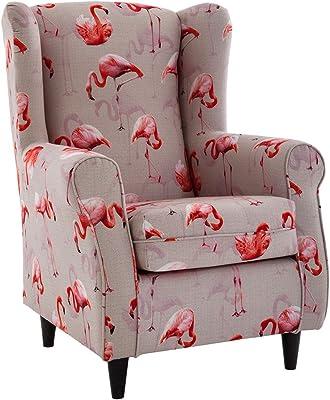 Versa 19500273 Sillón Individual Pink Patchwork, 65x77x71cm ...