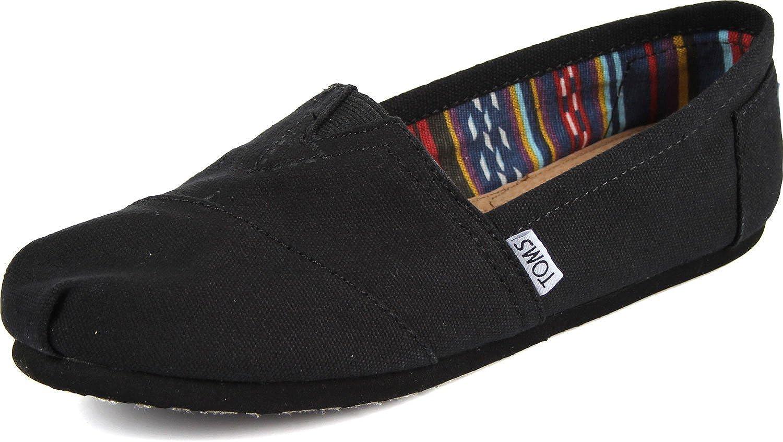 TOMS - Womens Slip-On Shoes in Black/Black Canvas, Size: 7.5 B(M) US, Color: Black/Black Canvas