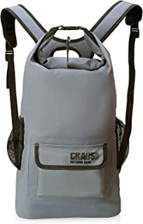 Chaos Ready Waterproof Backpack ? Dry Bag - Premium Quality with Padded Shoulder Straps - Mesh Side Pockets ? Front Pocket. For Hiking Kayaking Paddle Board Boating Skiing Snowboarding