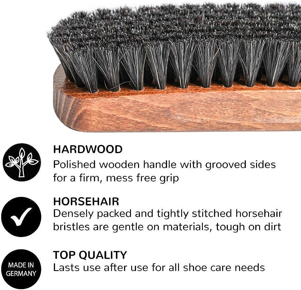 FootFitter Genuine Horsehair Shoe Shine Brush