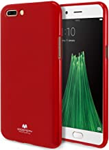 GOOSPERY Marlang Marlang Oppo R11 Plus Case - Red, Free Screen Protector [Slim Fit] TPU Case [Flexible] Pearl Jelly [Protection] Bumper Cover for Oppo R11 Plus, OPPOR11P-JEL/SP-RED