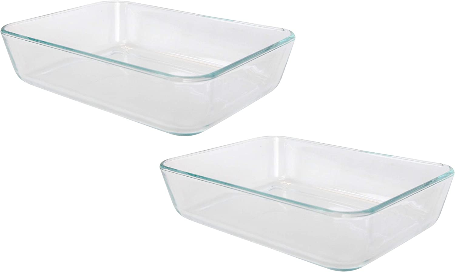 Pyrex Simply Store 7210 Rectangle Clear Glass Food Storage Container - 2 Pack