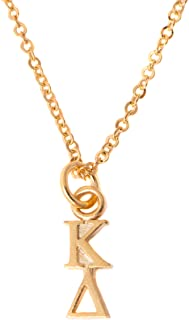 Desert Cactus Kappa Delta Sorority 24k Gold Plated Lavalier Letter Necklace with Chain KD (24k Lavalier)